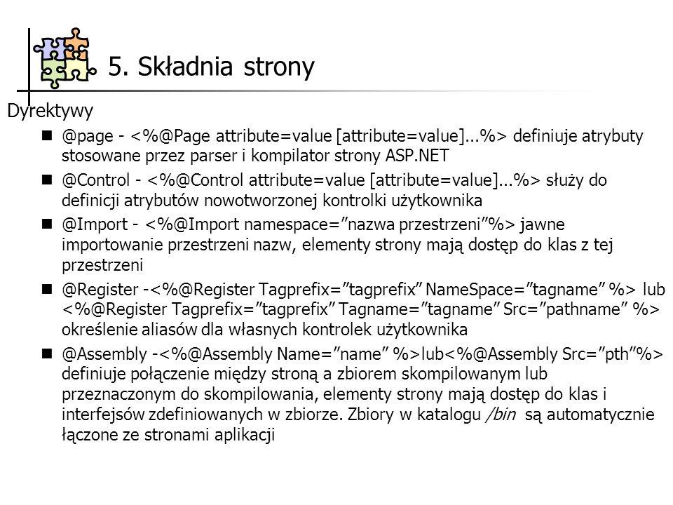 5. Składnia strony Dyrektywy
