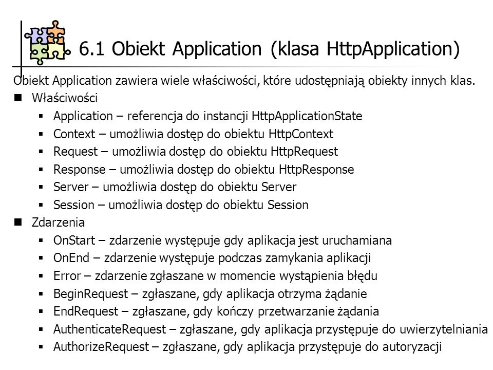 6.1 Obiekt Application (klasa HttpApplication)