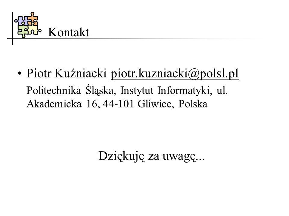 Piotr Kuźniacki piotr.kuzniacki@polsl.pl