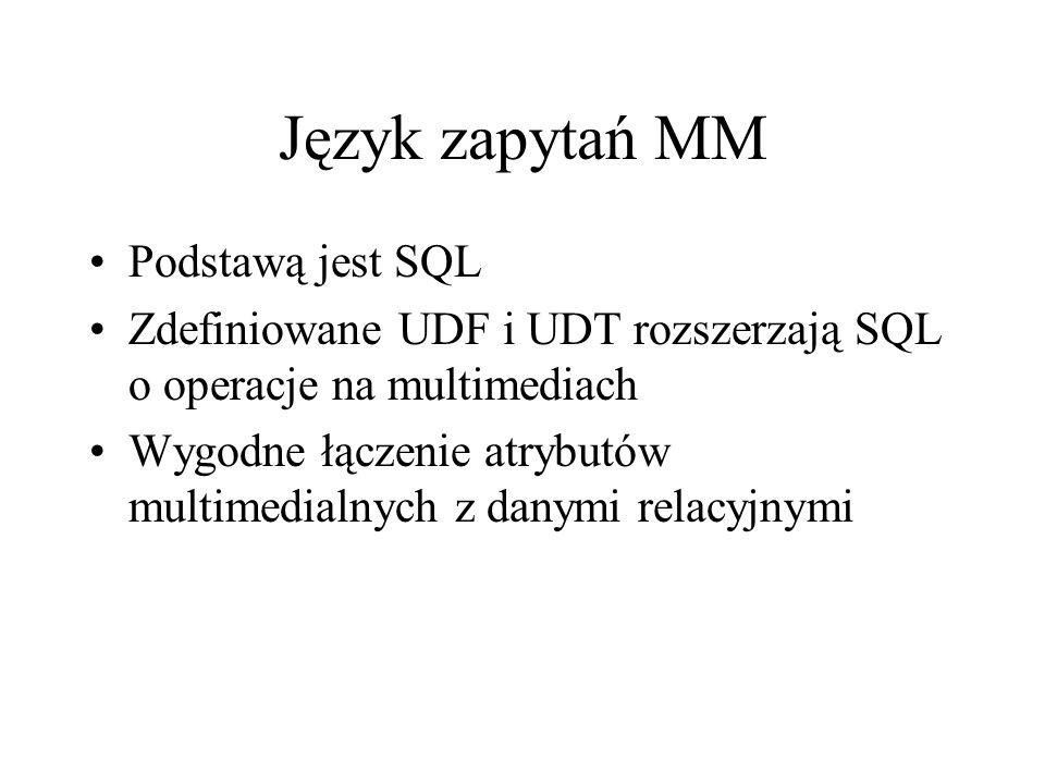 Język zapytań MM Podstawą jest SQL
