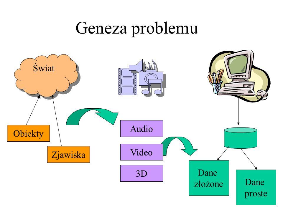 Geneza problemu Świat Audio Obiekty Video Zjawiska Dane 3D złożone