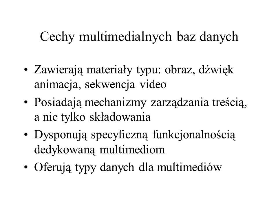 Cechy multimedialnych baz danych