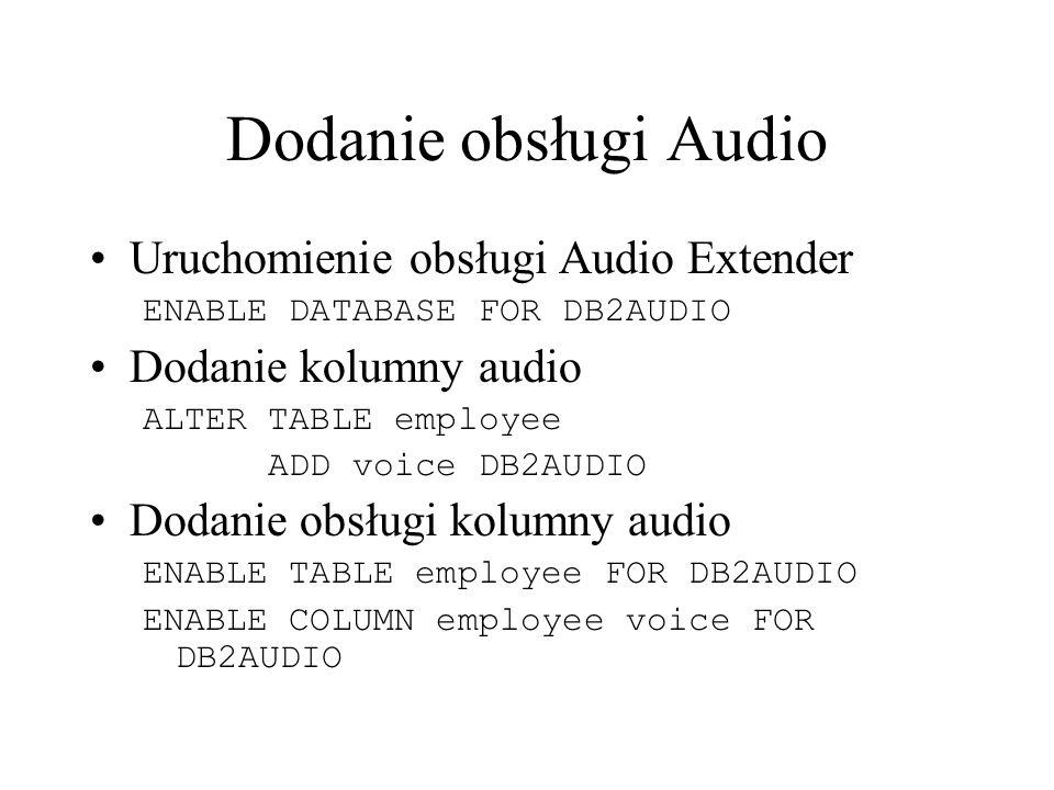 Dodanie obsługi Audio Uruchomienie obsługi Audio Extender