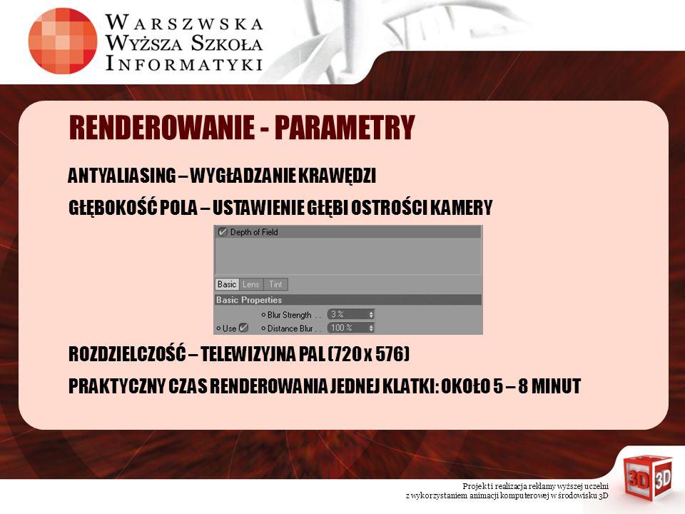 RENDEROWANIE - PARAMETRY
