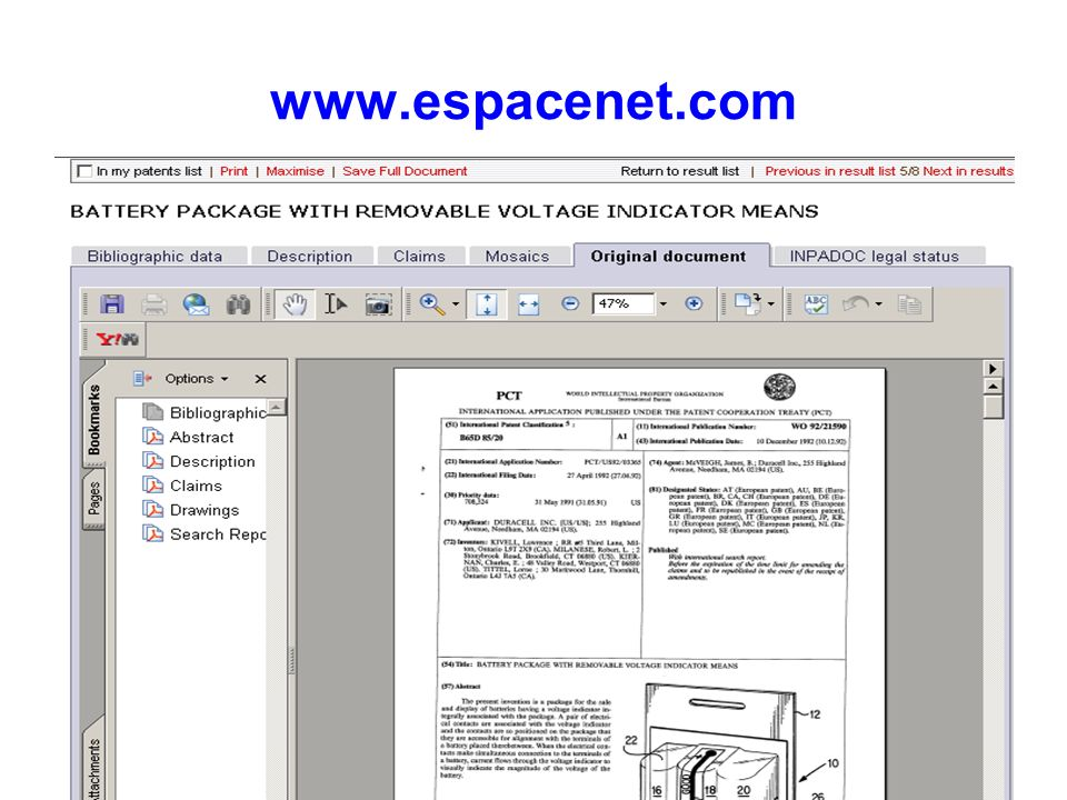 www.espacenet.com