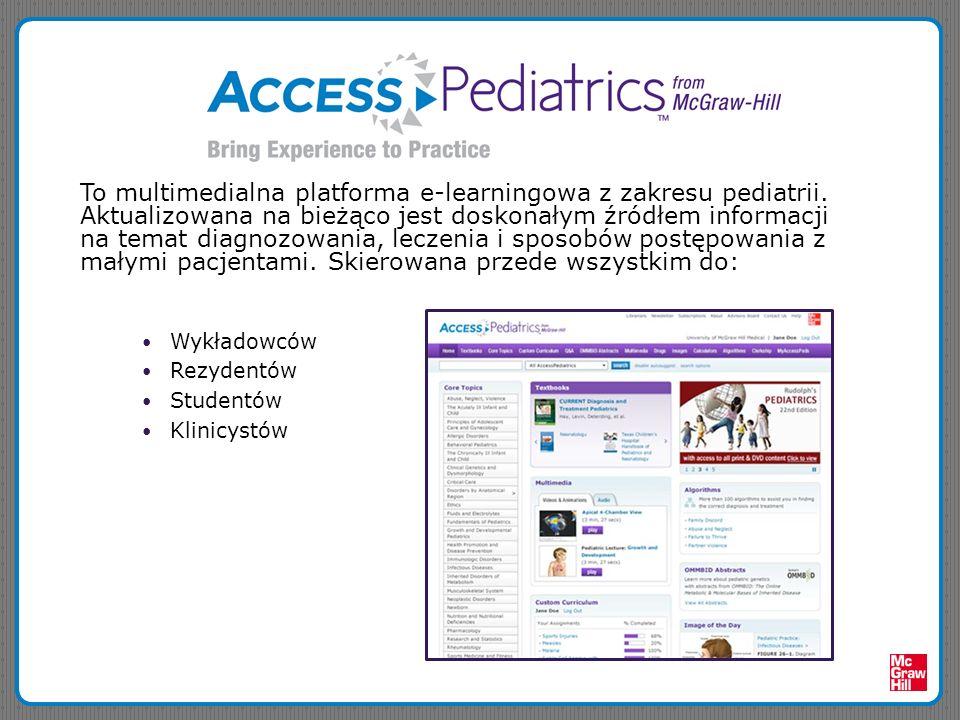 To multimedialna platforma e-learningowa z zakresu pediatrii