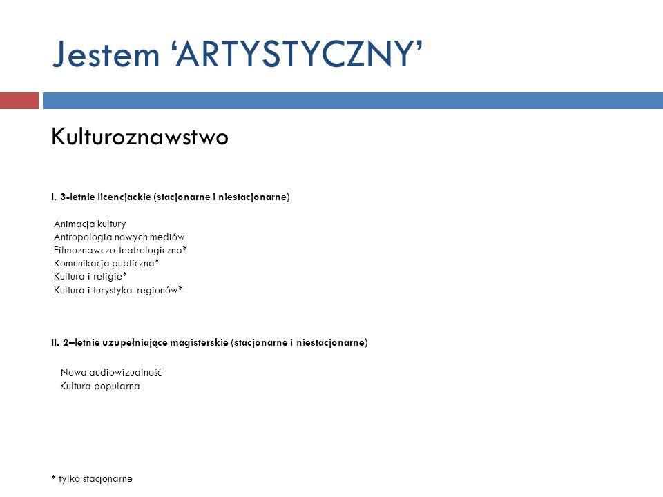 Jestem 'ARTYSTYCZNY' Kulturoznawstwo Nowa audiowizualność