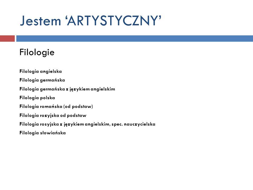 Jestem 'ARTYSTYCZNY' Filologie Filologia angielska Filologia germańska