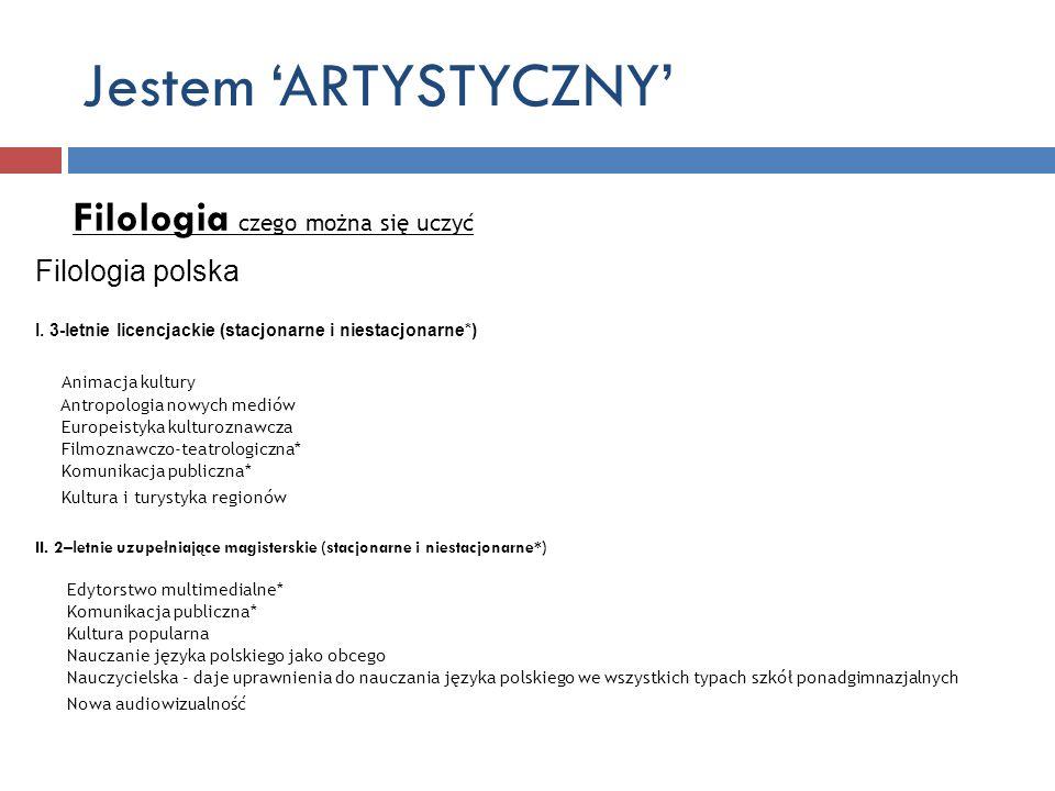 Jestem 'ARTYSTYCZNY' Filologia czego można się uczyć Filologia polska
