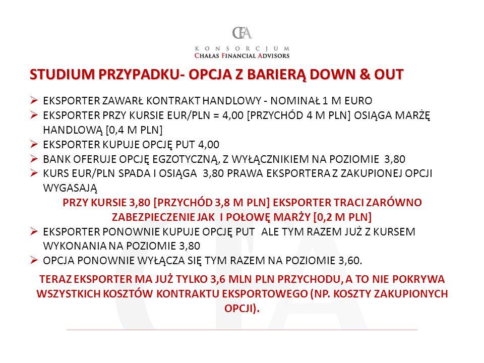 STUDIUM PRZYPADKU- OPCJA Z BARIERĄ DOWN & OUT