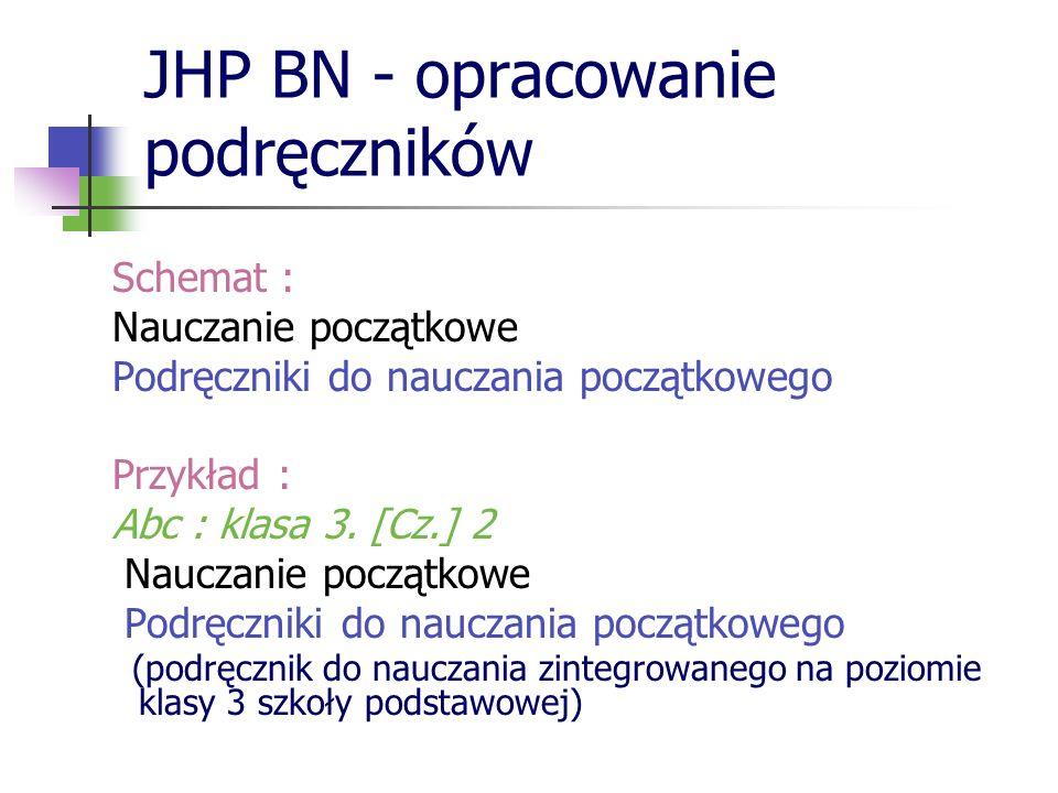 JHP BN - opracowanie podręczników