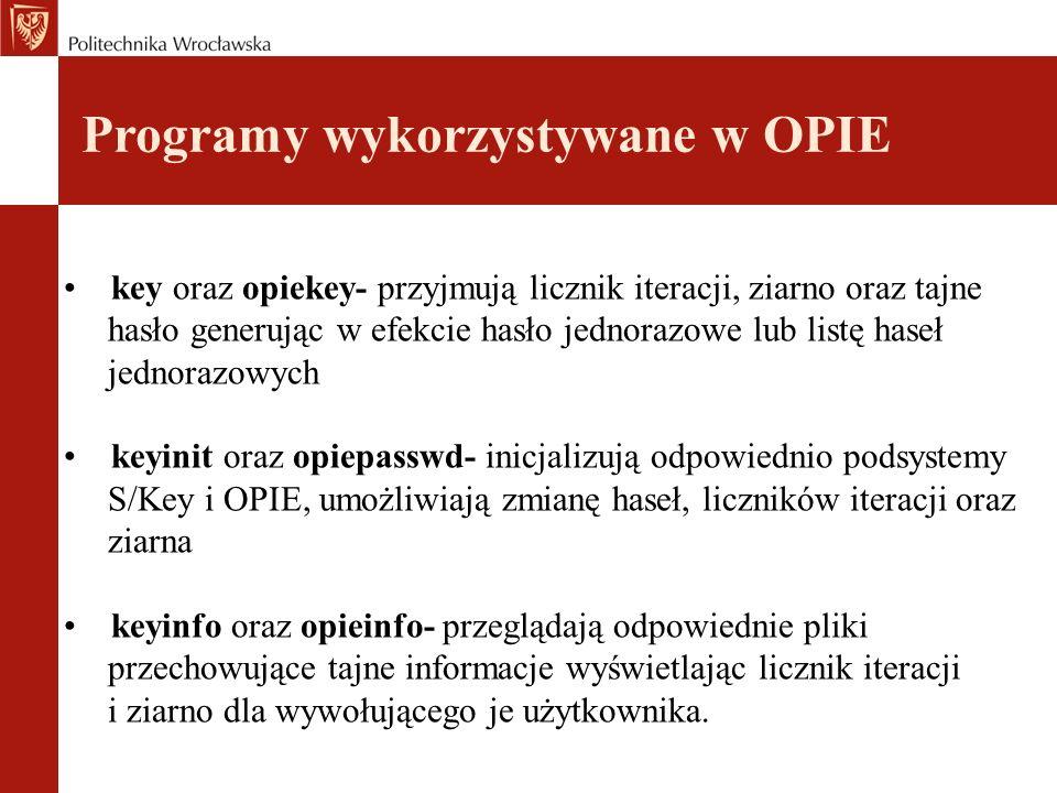 Programy wykorzystywane w OPIE