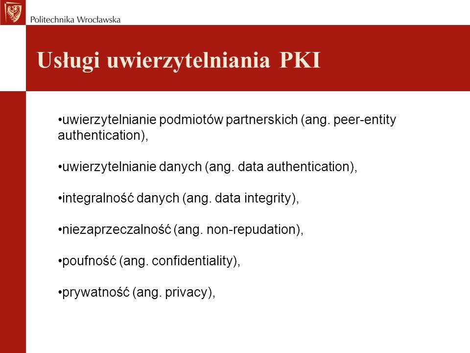 Usługi uwierzytelniania PKI