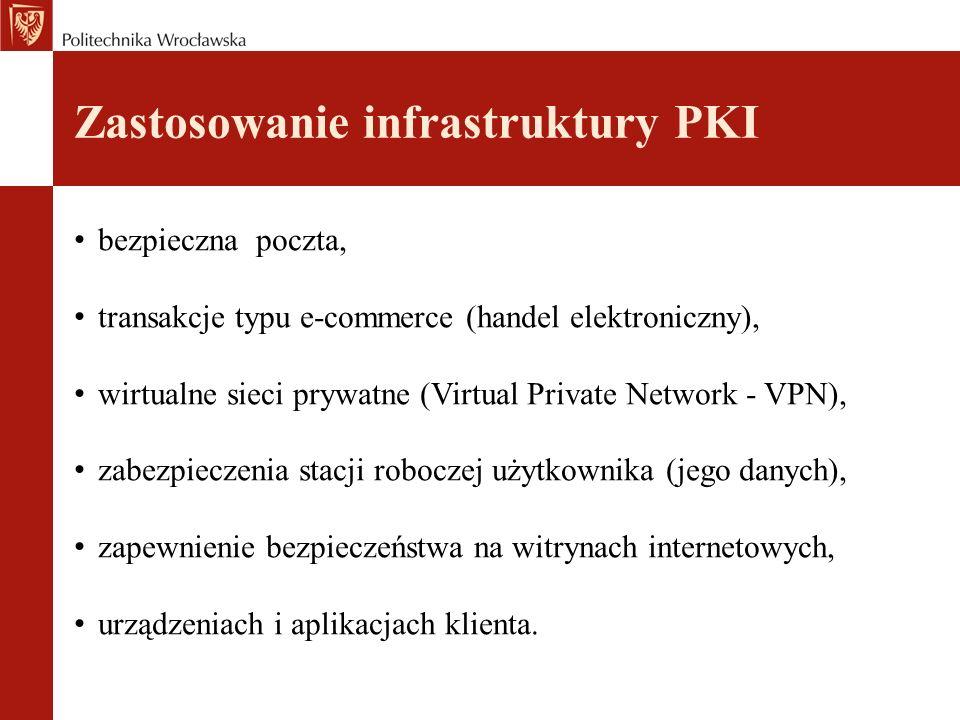 Zastosowanie infrastruktury PKI