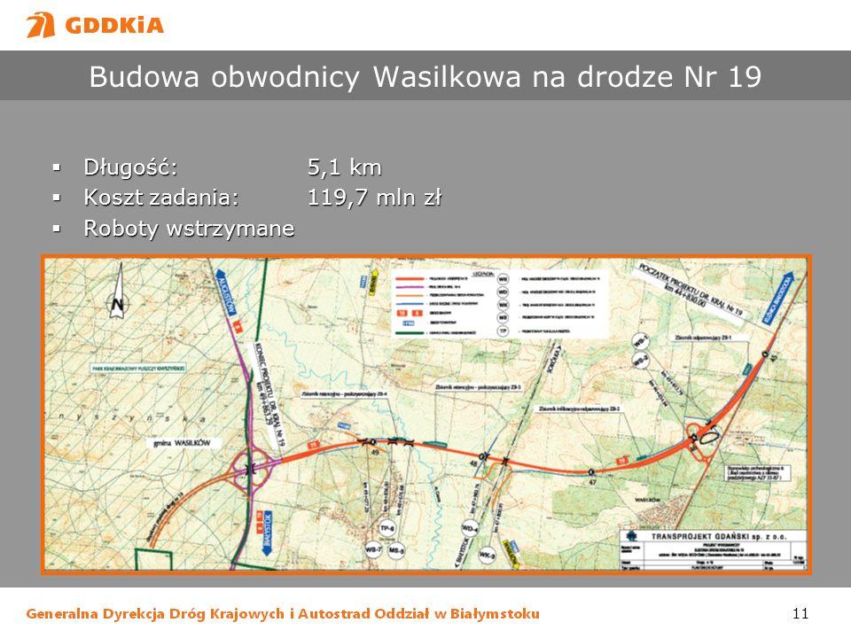 Budowa obwodnicy Wasilkowa na drodze Nr 19