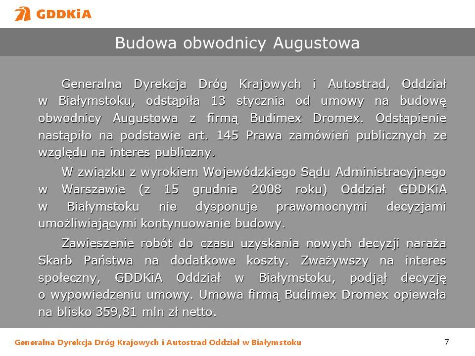 Budowa obwodnicy Augustowa