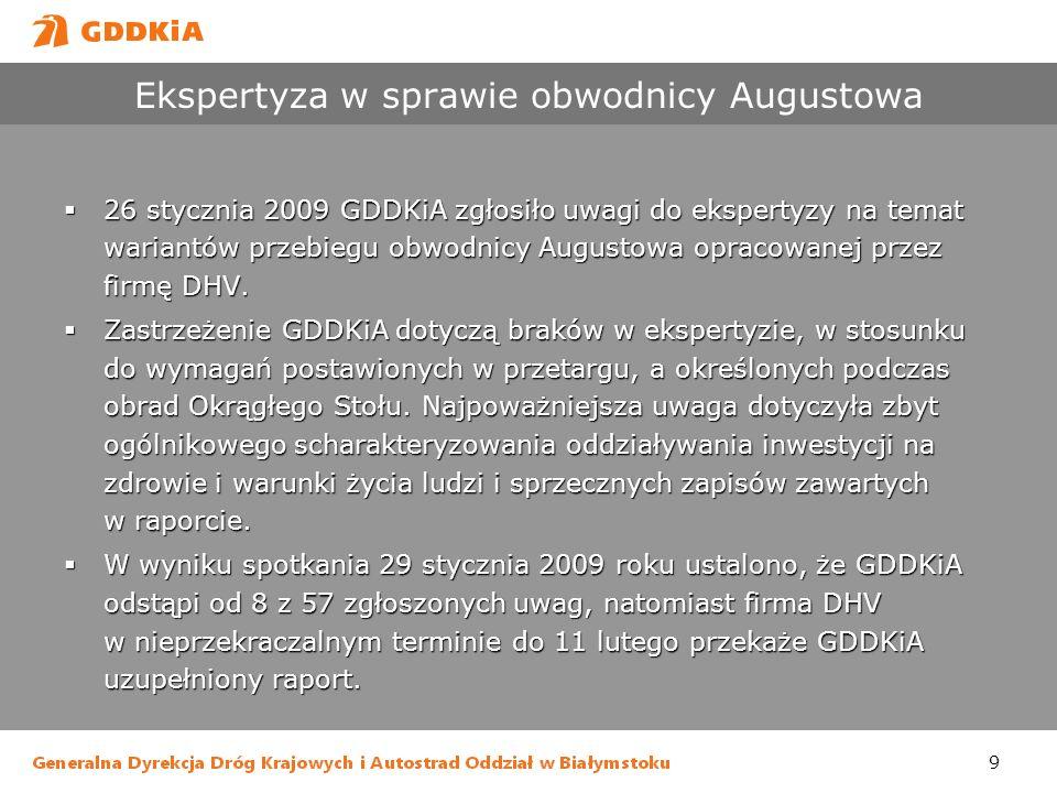 Ekspertyza w sprawie obwodnicy Augustowa