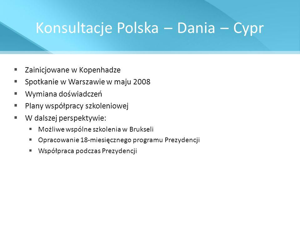 Konsultacje Polska – Dania – Cypr