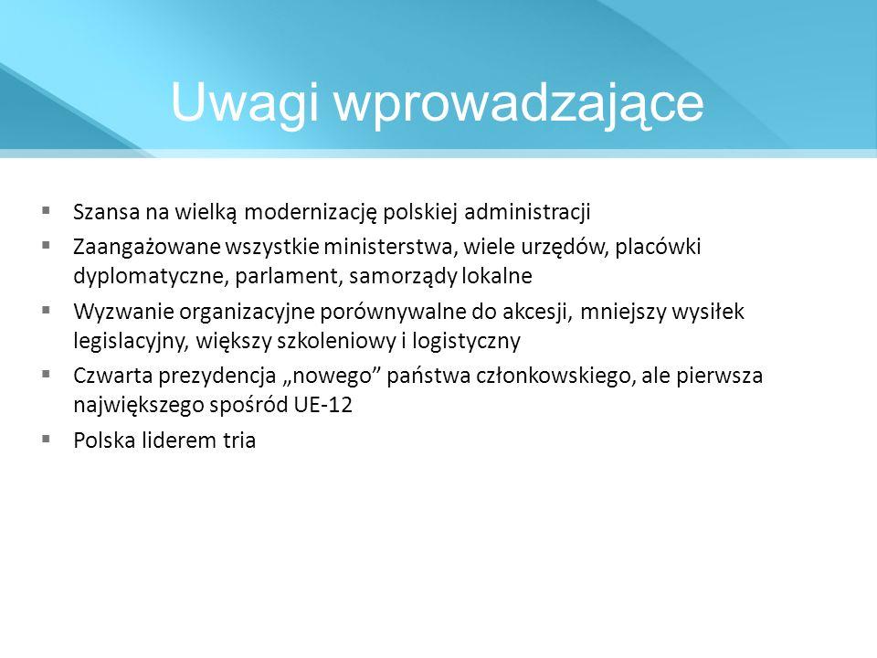Uwagi wprowadzające Szansa na wielką modernizację polskiej administracji.