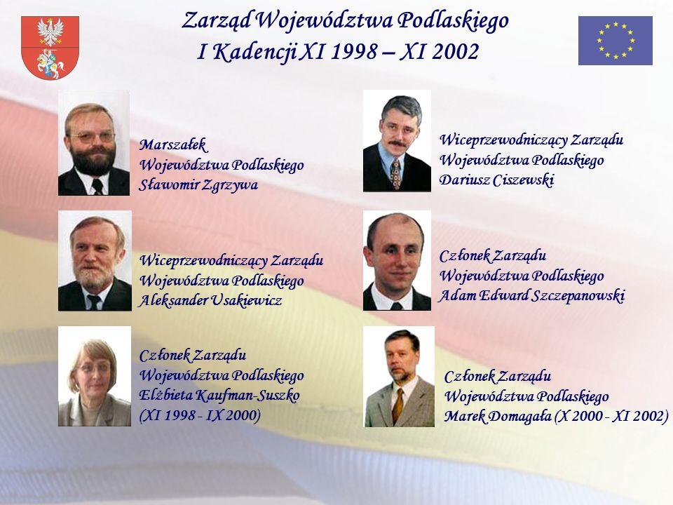 Zarząd Województwa Podlaskiego I Kadencji XI 1998 – XI 2002
