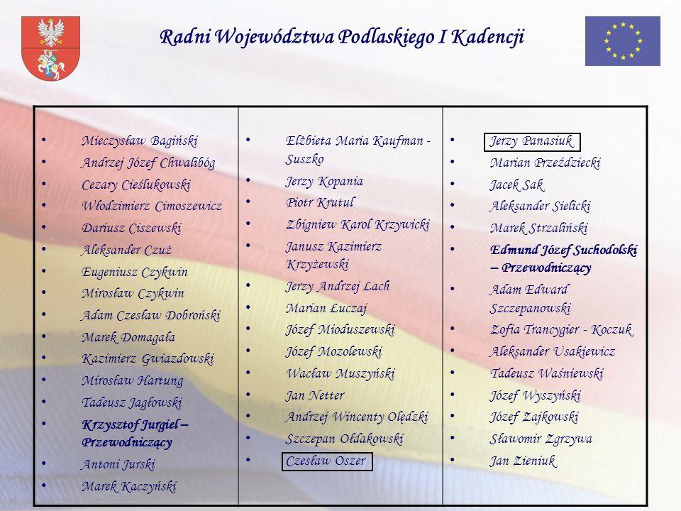 Radni Województwa Podlaskiego I Kadencji