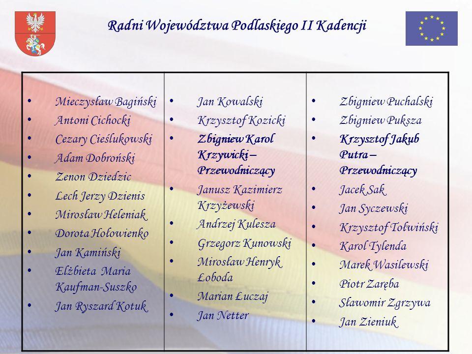 Radni Województwa Podlaskiego II Kadencji
