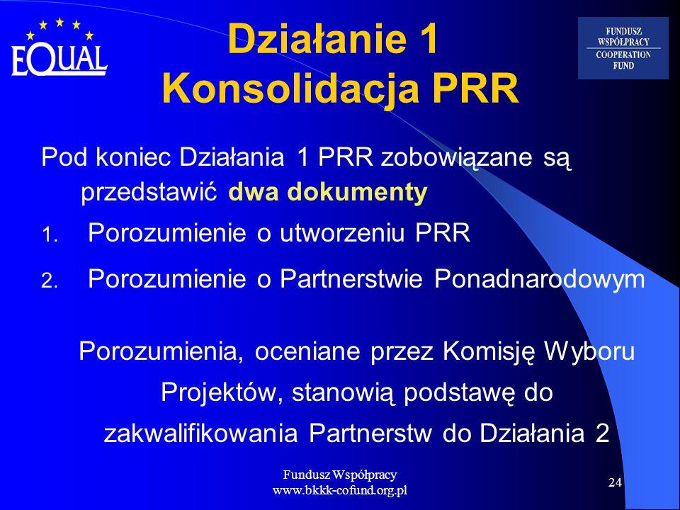 Działanie 1 Konsolidacja PRR