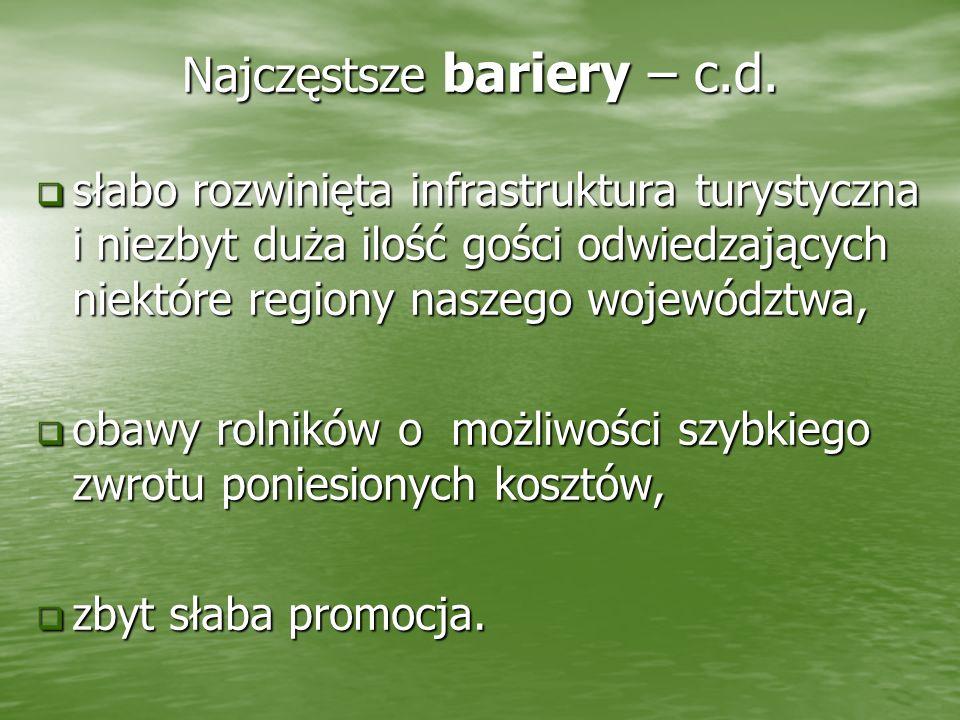 Najczęstsze bariery – c.d.