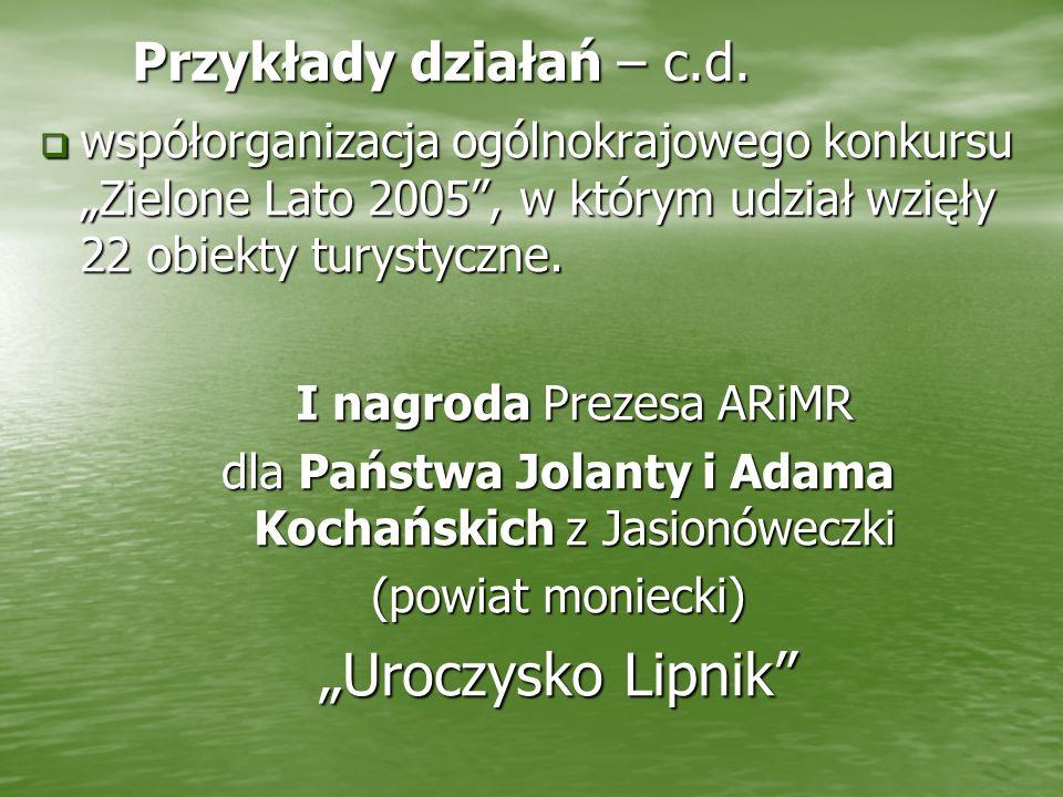 """""""Uroczysko Lipnik Przykłady działań – c.d."""