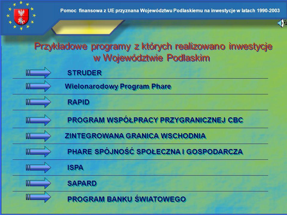 Przykładowe programy z których realizowano inwestycje