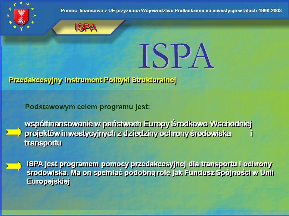 ISPA ISPA. Przedakcesyjny Instrument Polityki Strukturalnej. Podstawowym celem programu jest: