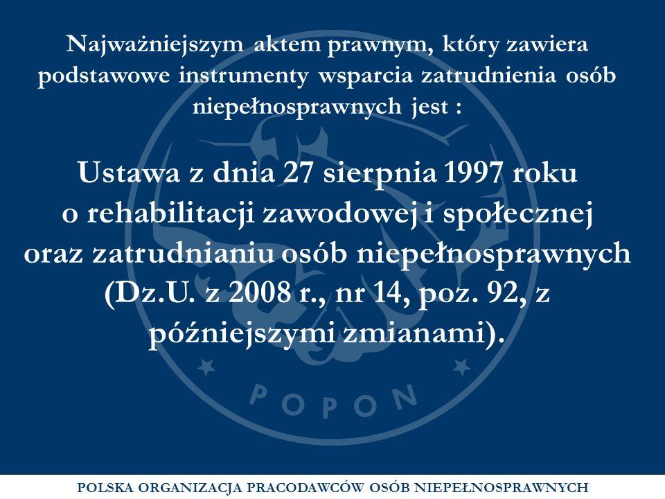 Ustawa z dnia 27 sierpnia 1997 roku