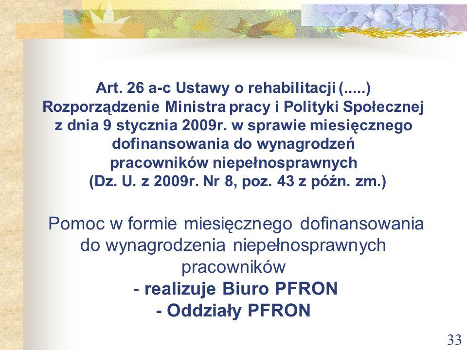 Art. 26 a-c Ustawy o rehabilitacji (