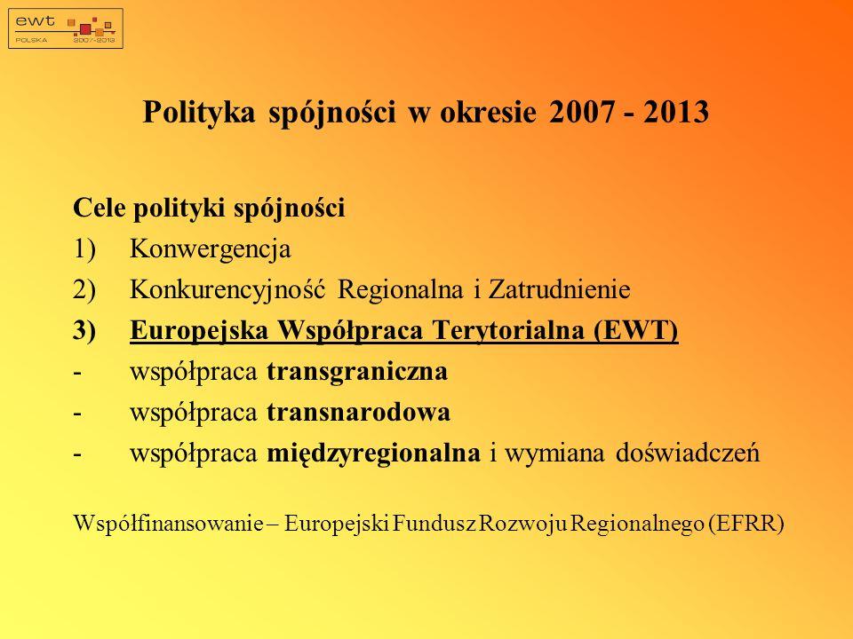 Polityka spójności w okresie 2007 - 2013