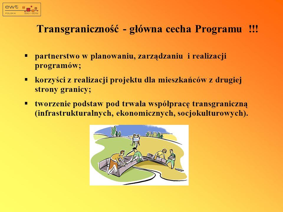 Transgraniczność - główna cecha Programu !!!