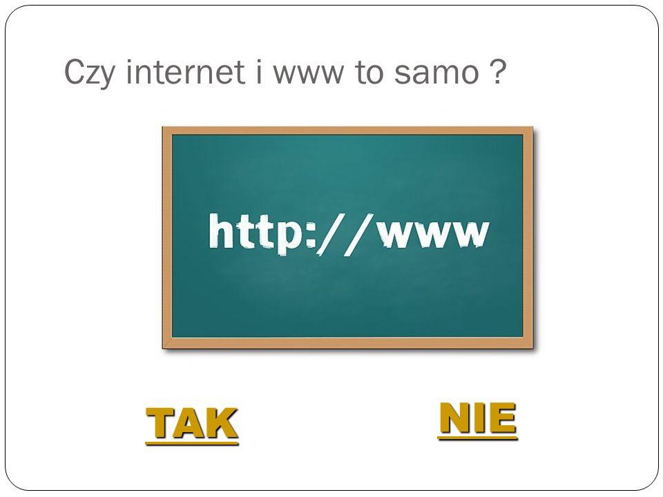 Czy internet i www to samo