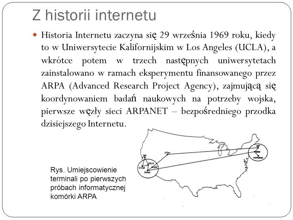 Z historii internetu