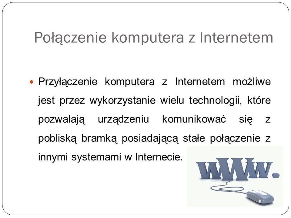 Połączenie komputera z Internetem