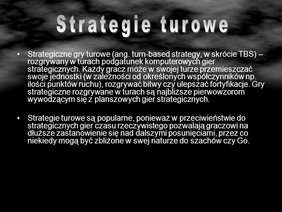 Strategie turowe