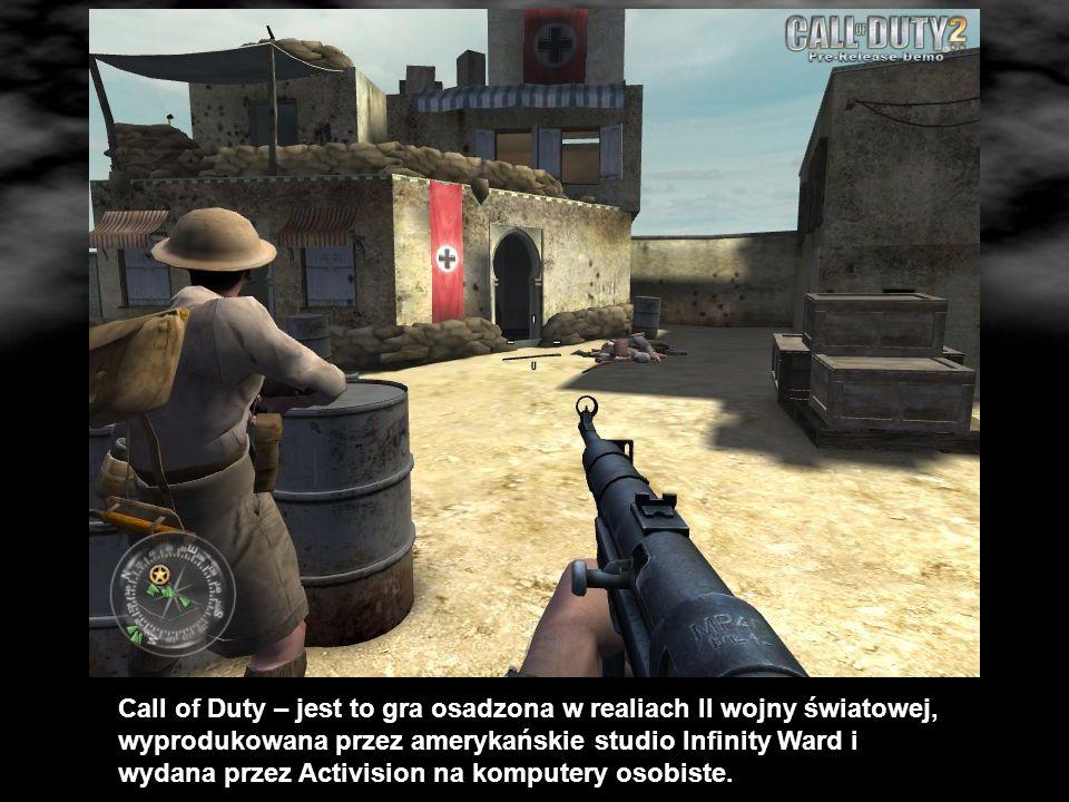 Call of Duty – jest to gra osadzona w realiach II wojny światowej, wyprodukowana przez amerykańskie studio Infinity Ward i wydana przez Activision na komputery osobiste.