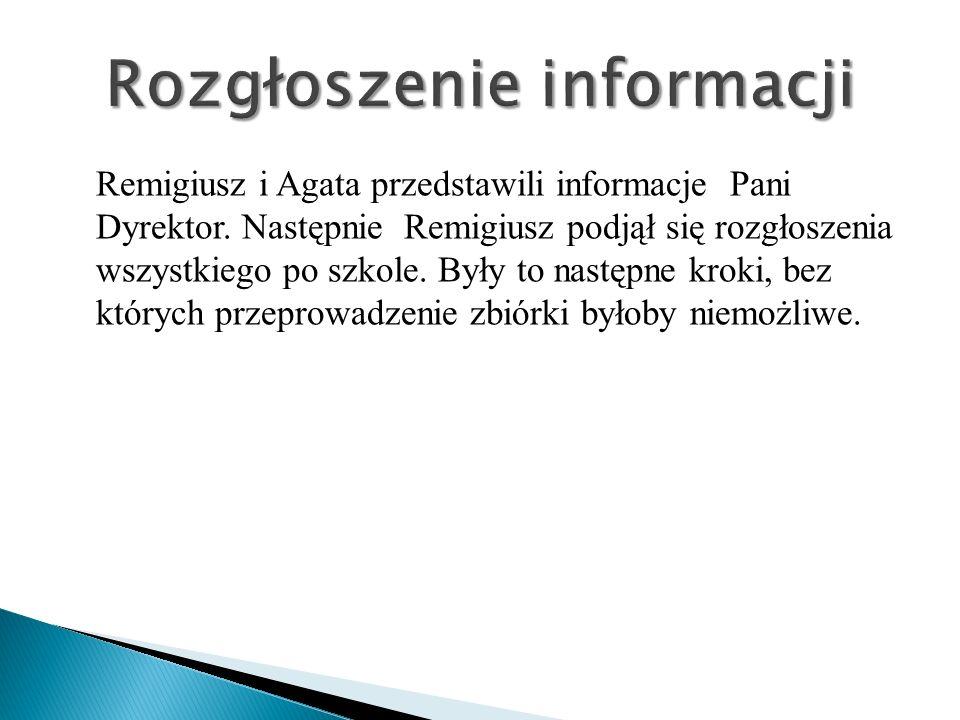 Rozgłoszenie informacji