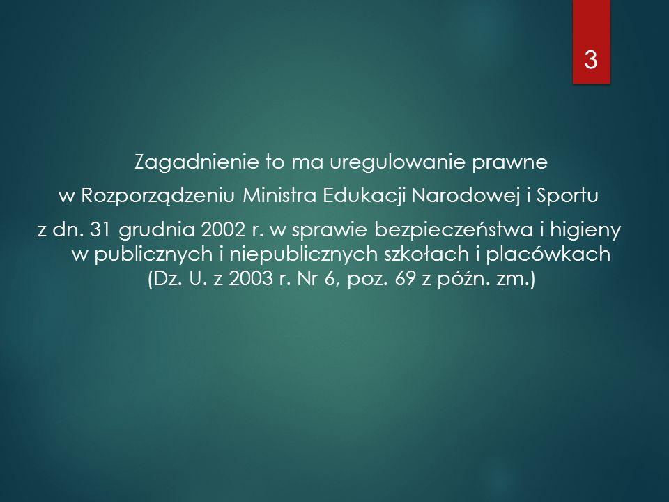 w Rozporządzeniu Ministra Edukacji Narodowej i Sportu