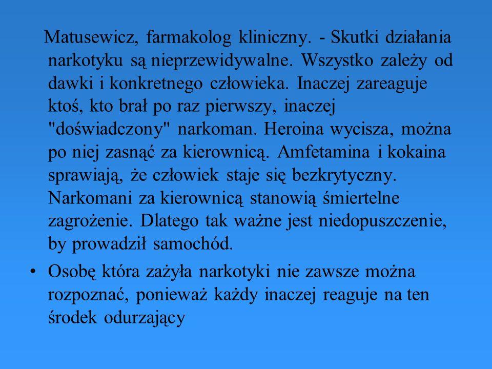Matusewicz, farmakolog kliniczny