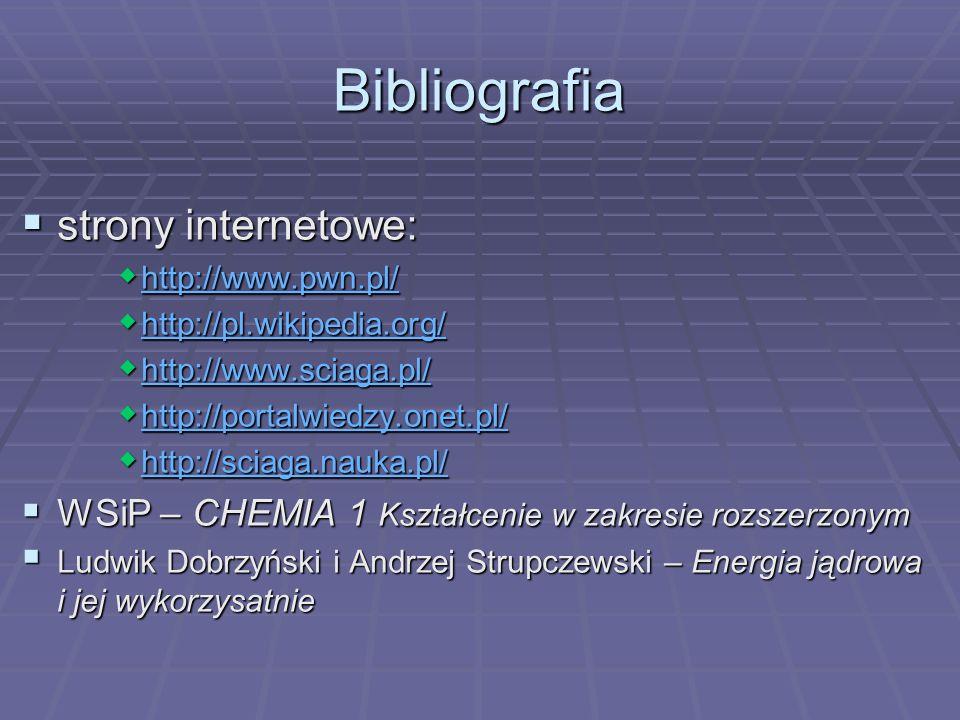 Bibliografia strony internetowe:
