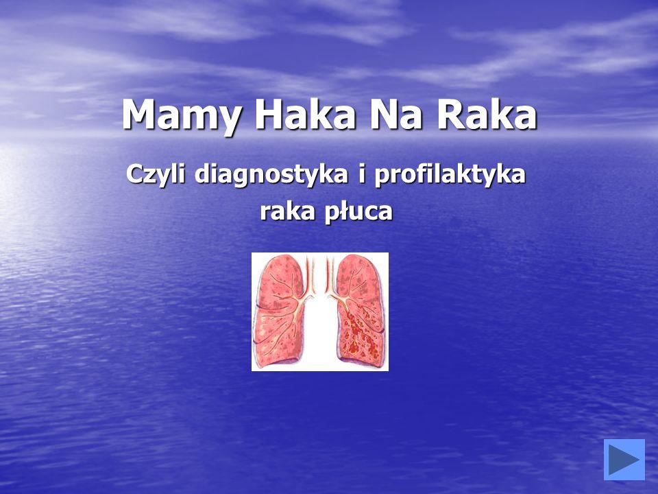 Czyli diagnostyka i profilaktyka raka płuca