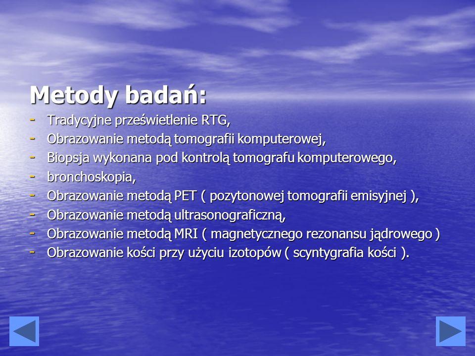 Metody badań: Tradycyjne prześwietlenie RTG,