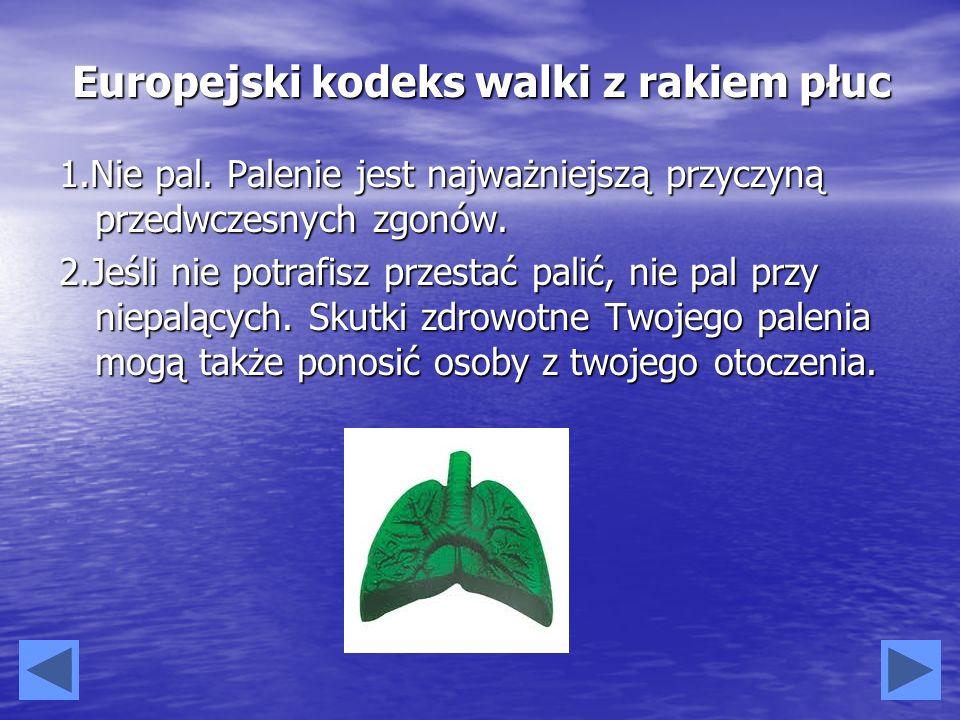 Europejski kodeks walki z rakiem płuc