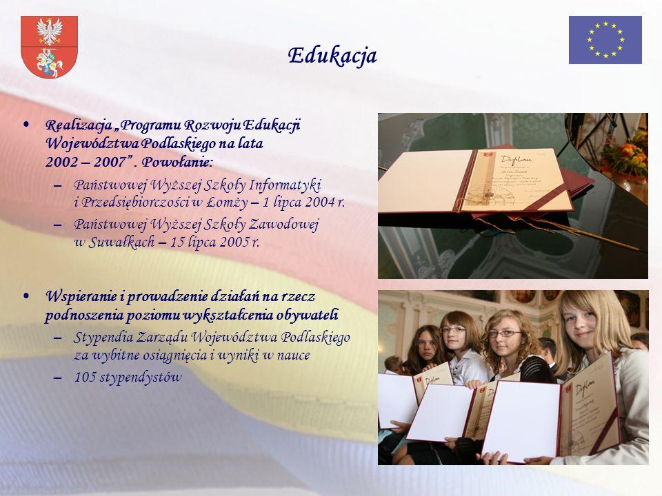 """Edukacja Realizacja """"Programu Rozwoju Edukacji Województwa Podlaskiego na lata 2002 – 2007 . Powołanie:"""
