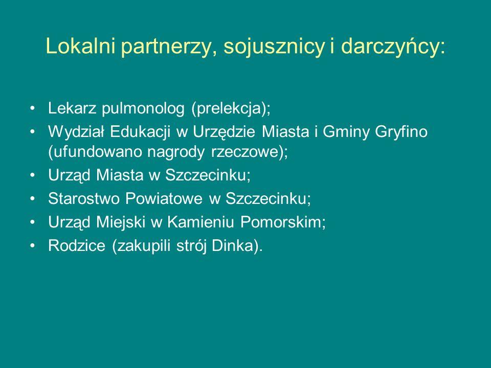 Lokalni partnerzy, sojusznicy i darczyńcy:
