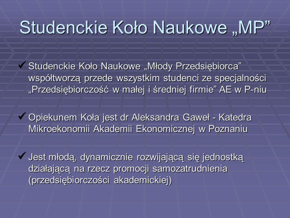 """Studenckie Koło Naukowe """"MP"""